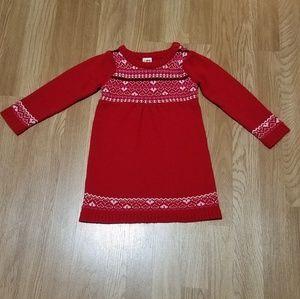 Christmas sweater dress for toddler girl
